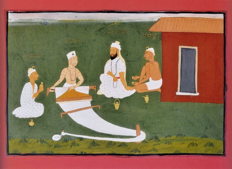 Saint Kabir with Namdeva, Raidas and Pipaji. Jaipur, early 19century, National Museum New Delhi
