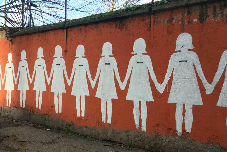 A mural against femicide in San Lorenzo | © Emma Law