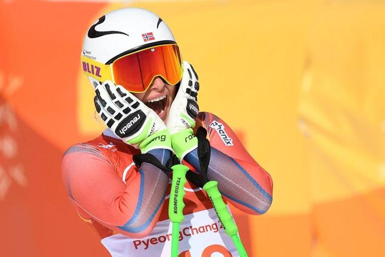 Silver Olympian Ragnhild Mowinckel | © NTB SCANPIX, Courtesy of Alpinlandslaget