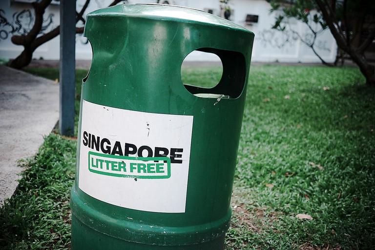 Singapore Green Trash Bin PIttaya