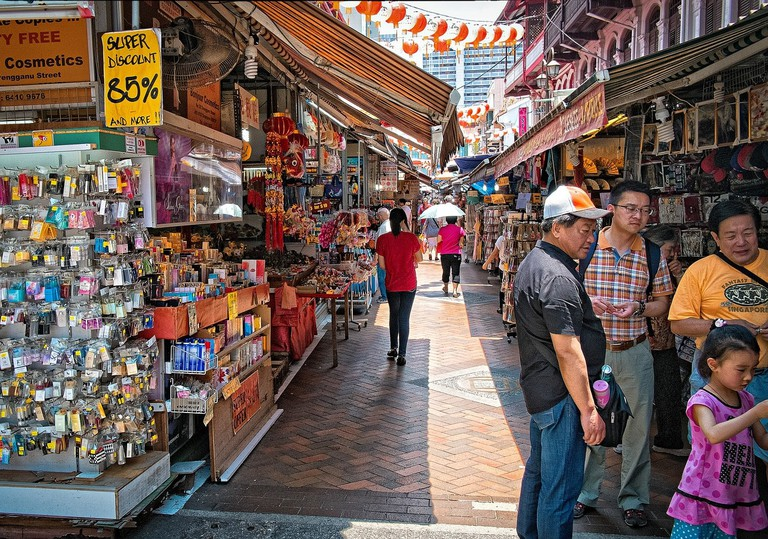 Singapore Shoppers China Town Shopping Market