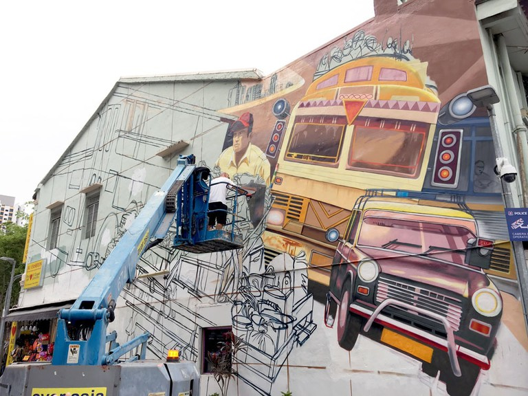 Singapore Street Art Little India Jaba Daily Delivery