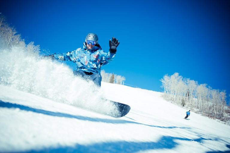 Sean O'Shaughnessy snowboarding near in Park City, near Salt Lake City | @Sean O'Shaughnessy/flickr