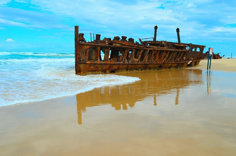 SS Maheno shipwreck on Fraser Island | © Matt McLeod/Pixabay