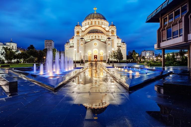Sveti Sava at night