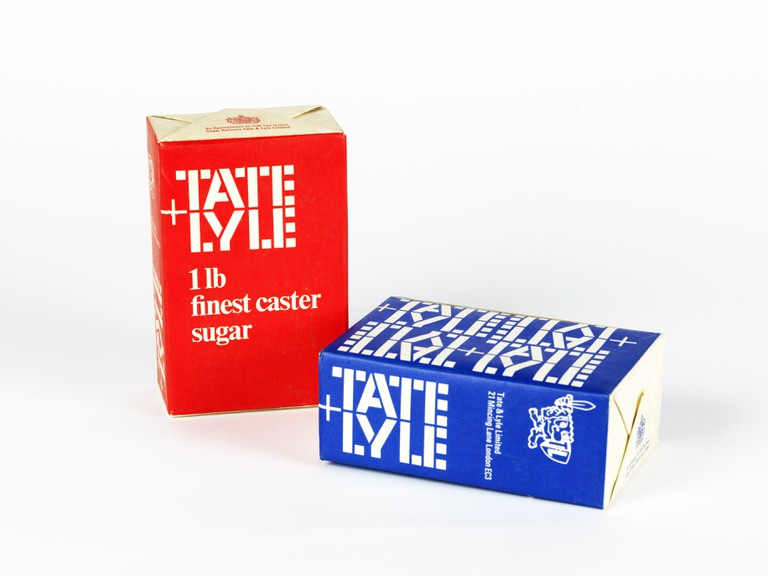 Tate & Lyle boxes, logo by FHK Henrion, FHK Henrion Archive, University of Brighton Design Archives, by courtesy of the Henrion estate. The Tate & Lyle ste