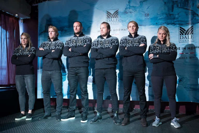 The controversial Attacking Vickings sweater by Dale of Norway for the Alpine ski team | Courtesy of Alpinlandslaget