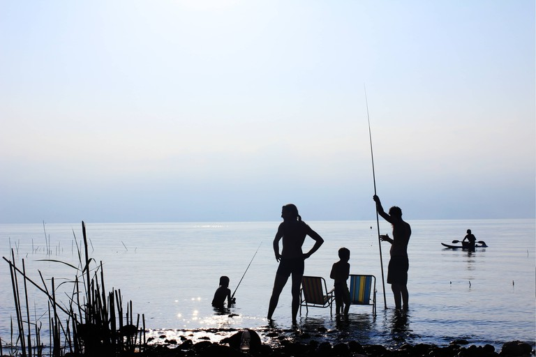 Fishing in Northern Israel