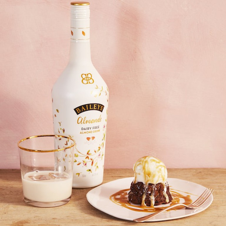 The vegan Baileys is made with almond milk