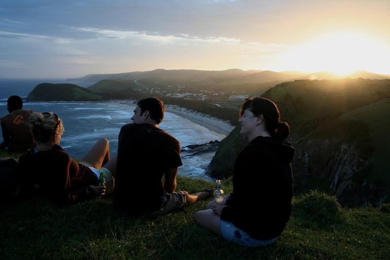 Sundowners above Coffee Bay