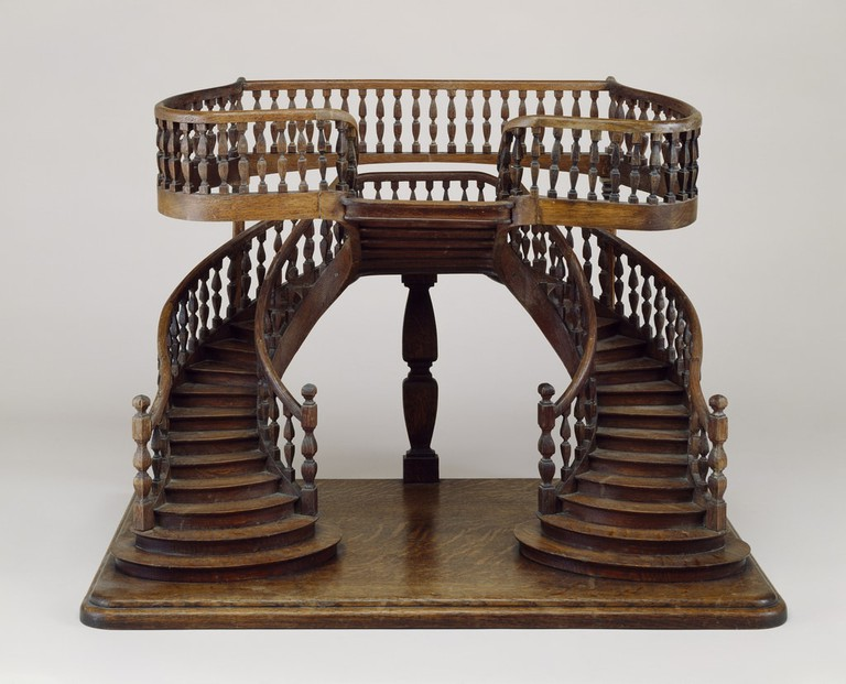 A mid-late 19th-century wooden staircase from France |© Courtesy of Smithsonian Institution