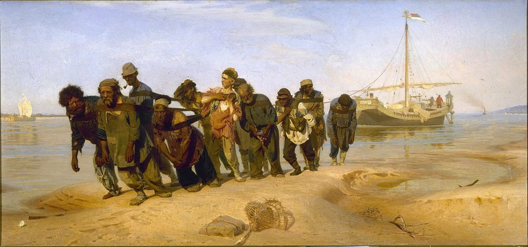 Barge Haulers on the Volga by Ilya Repin (1872-1873)