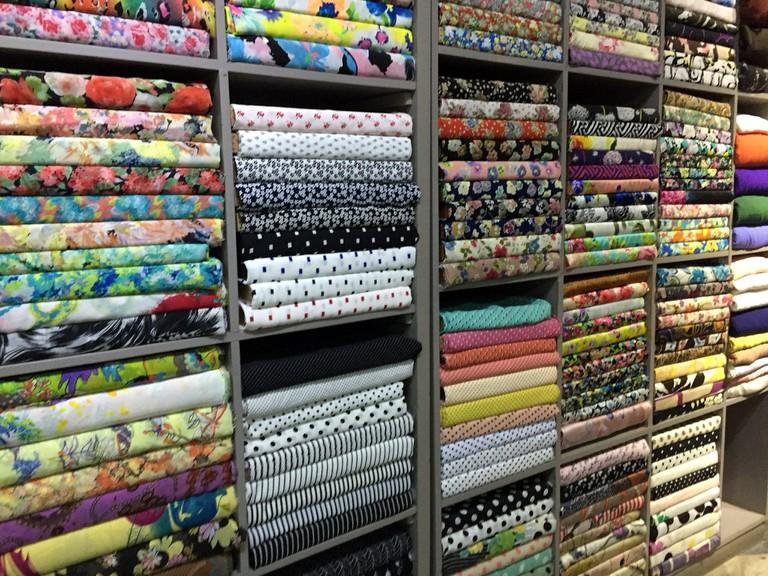Ao dai fabric   © Bex Walton/Flickr