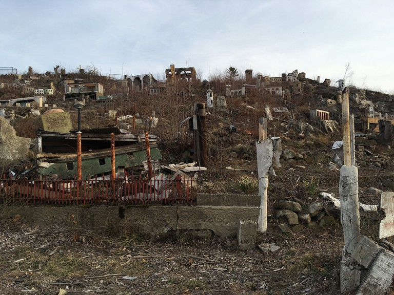 The ruins of Holy Land USA