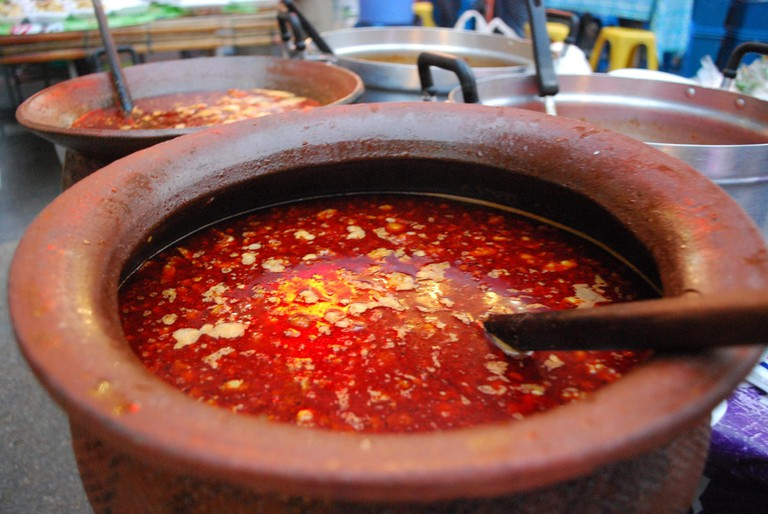 Soup made from pig's blood