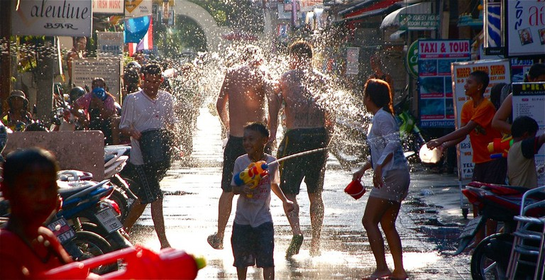 Water fight for Songkran