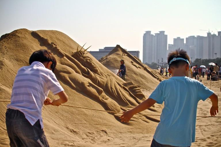 Beach festival in Busan