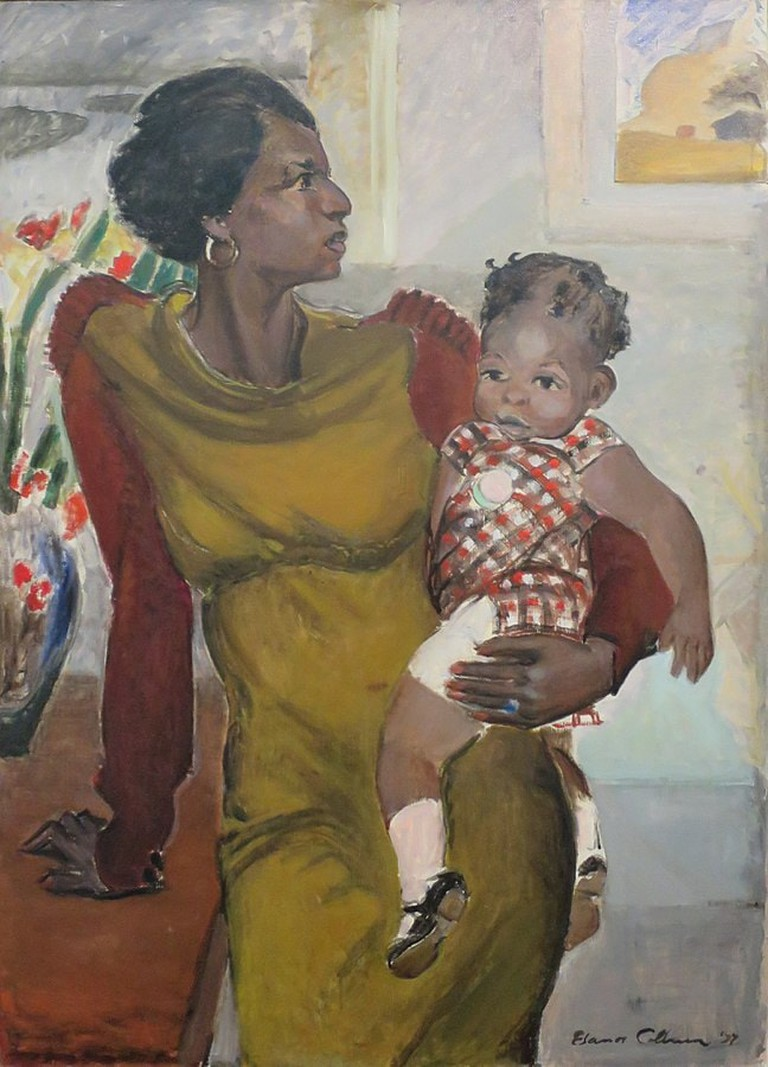 648px-'Harlem'_by_Elanor_Ruth_Colburn,_1937,_oil_on_canvas,_Wolfsonian-FIU_Museum