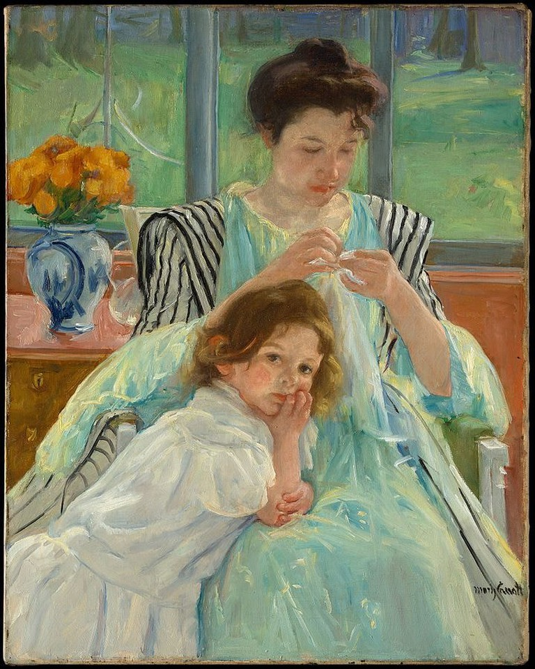 720px-Young_Mother_Sewing_MET_DP139632