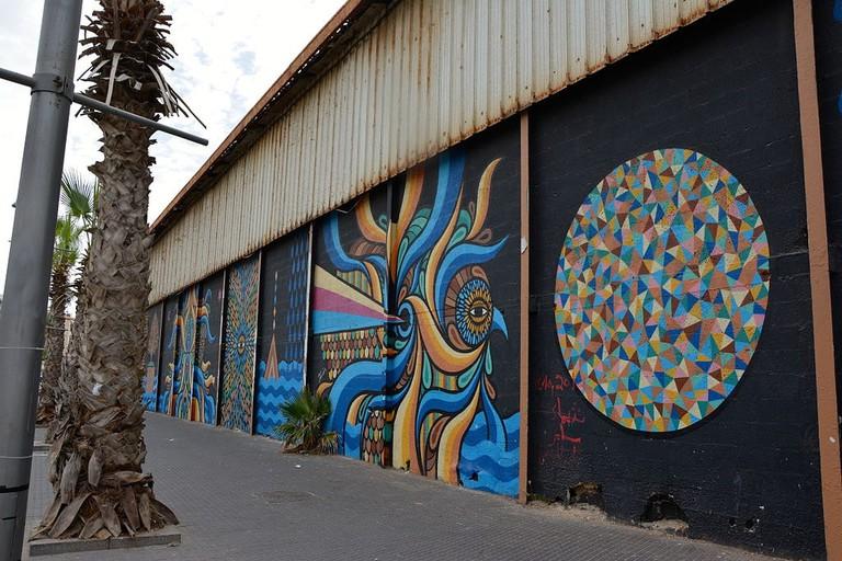 Jaffa Port Hangar graffiti