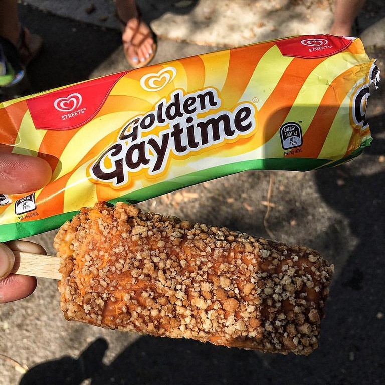 An unwrapped Golden Gaytime © Lachlan Hardy / Flickr