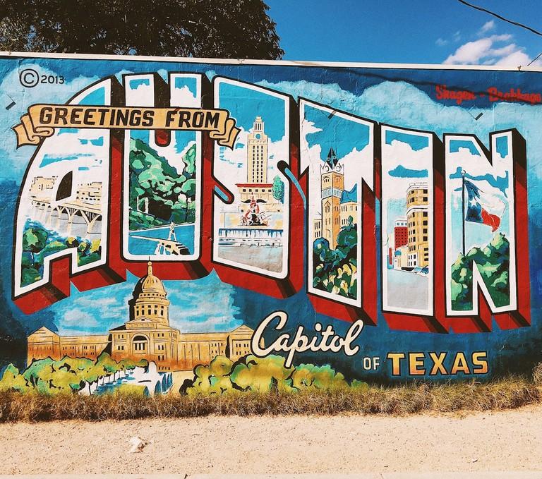 Austin Postcard Mural  Wikimedia
