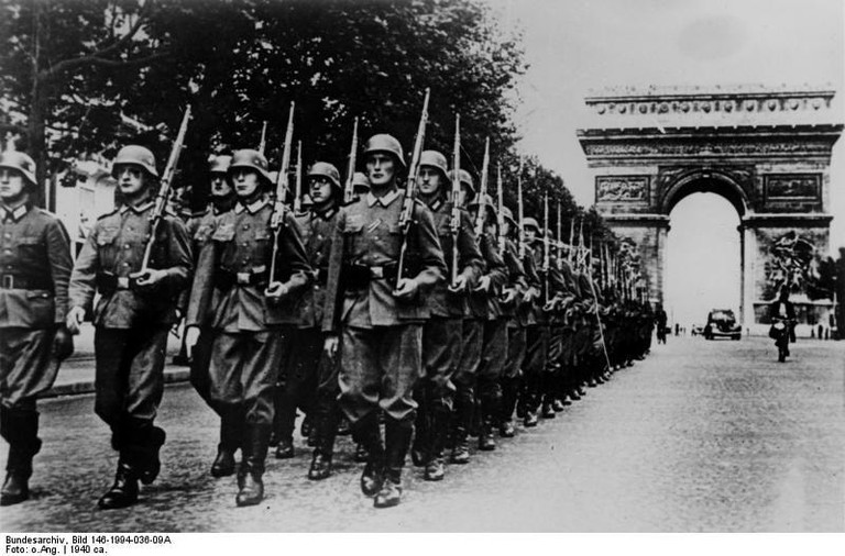 Paris, Champs-Élysées during the war