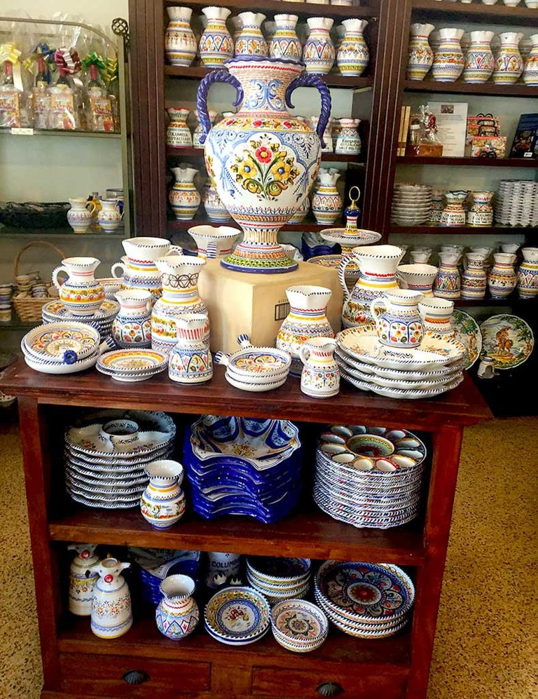 Pottery in the Columbia Restaurant Gift Shop in Historic Ybor City, Tampa