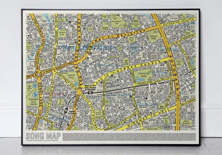 Dorothy 0030 - Song Map - V2 Framed Print b - Med