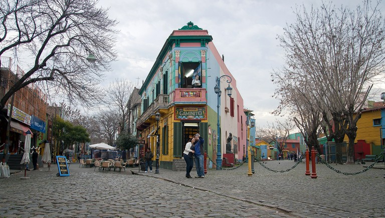 Colourful scenes in La Boca, Buenos Aires