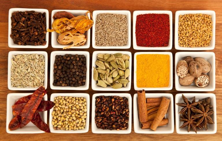 Indian Spices Joe mon bkk WikiCommons
