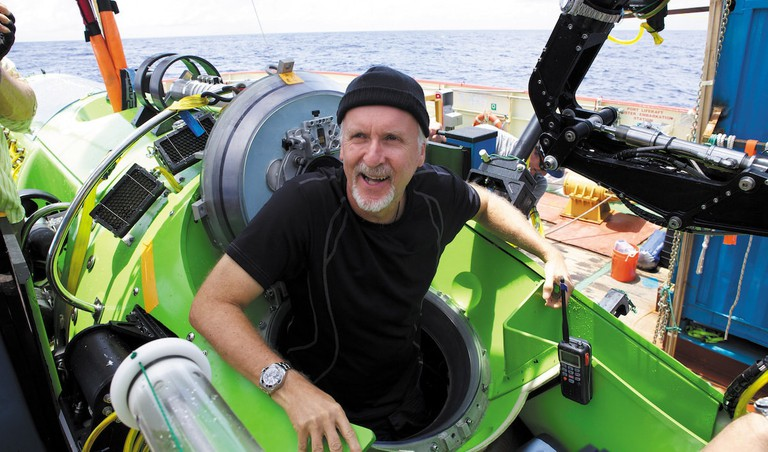 James Cameron on an ocean voyage © Mark Thiessen and Nat Geo Creative / Vivid Sydney