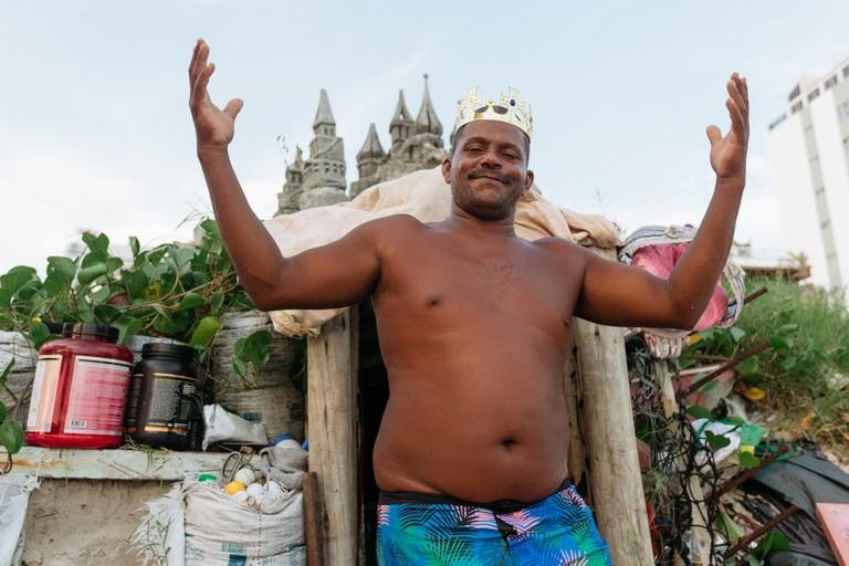 King Marco Sandcastle Man-Rio De Janiero-Brazil