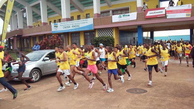 Kigali Peace Marathon runners in 2016