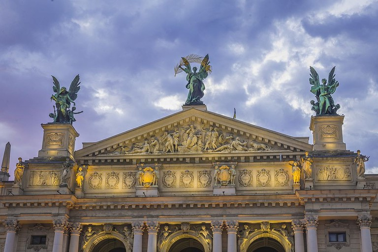 lviv opera house, ukraine