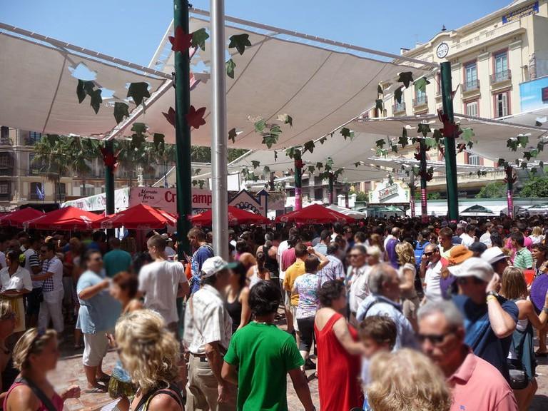 Malaga_Palaza_constitucion_during_Feria2