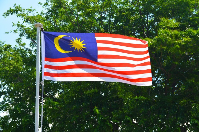 The red, white and blue colours on the Malaysian flag was mistaken as an ISIS flag | © Pixabay
