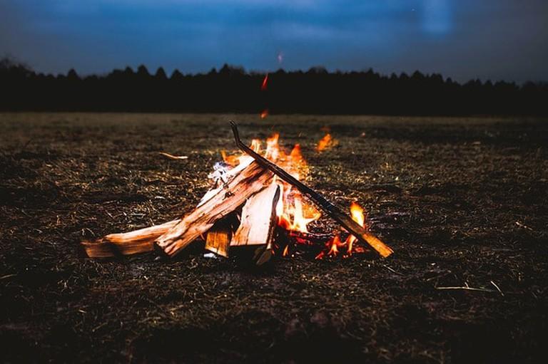 Campfire Camp Fire Camping Flames Campsite