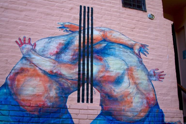 A piece by Jaz near Chacarita