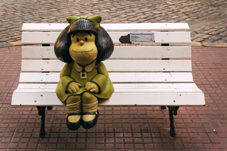 The famous Argentine cartoon character Mafalda