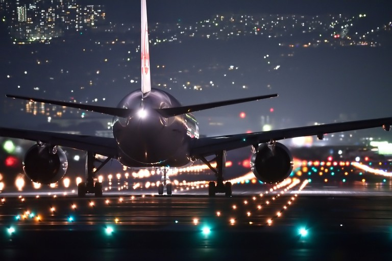Airplane ready to take off from airport