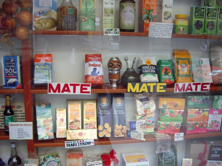 A shop selling different types of mate