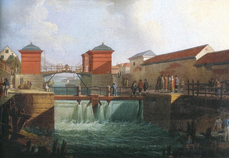 Slussen back in the 18th century