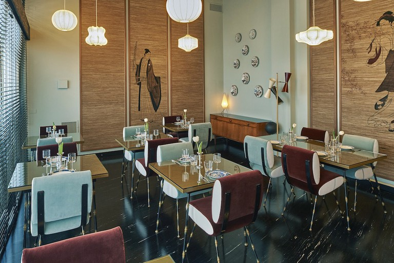 The restaurant at L'Arabesque cult store, Milan | Courtesy L'Arabesque