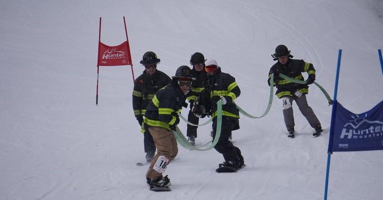 2018 FDNY Firefighter Ski Race