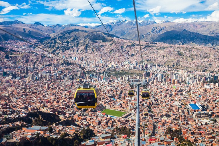 Jump on La Paz's cable car for an unbeatable view of the city