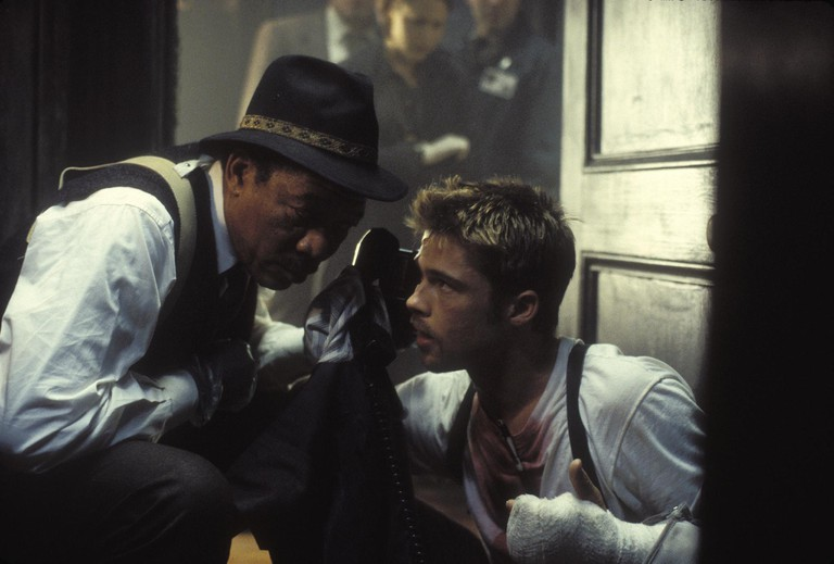 Seven (1995) - William Somerset (Morgan Freeman) and David Mills (Brad Pitt)