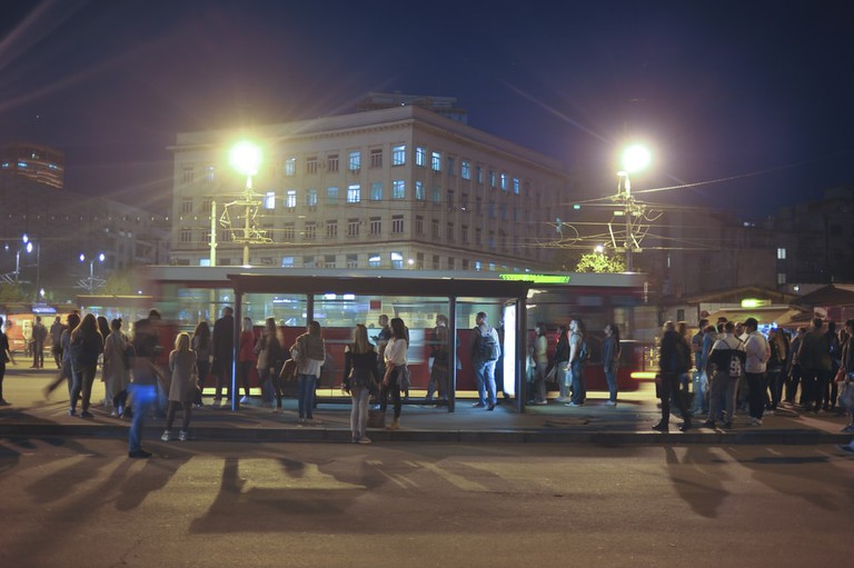 People waiting on the bus station in the downtown, Belgrade, Serbia | © miamia / Shutterstock
