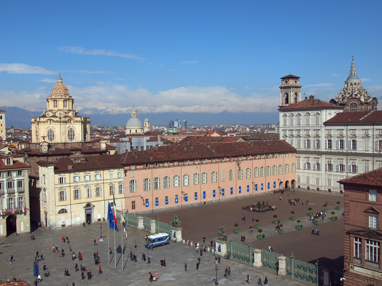 Piazza Castello central baroque square in Turin, Italy | © Claudio Divizia/Shutterstock