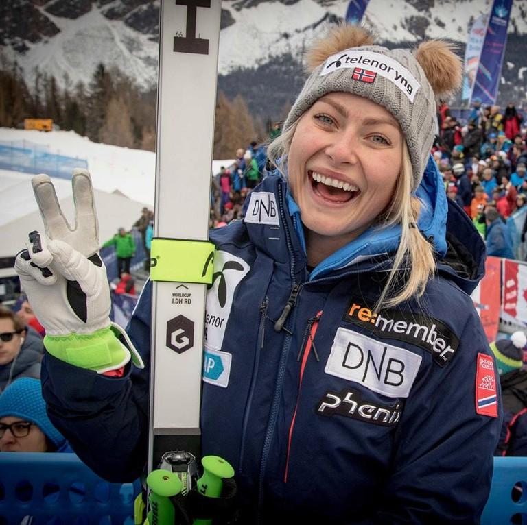 Silver Olympian Ragnhild Mowinckel, Courtesy of Alpinlandslaget